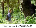 young asian tourist man with...   Shutterstock . vector #748436659