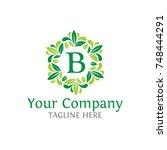 letter b initials logo. luxury ...   Shutterstock .eps vector #748444291