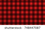 red checkered fabric background ... | Shutterstock . vector #748447087