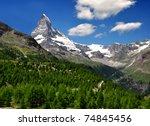 views of the matterhorn   swiss ... | Shutterstock . vector #74845456
