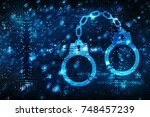 cyber security concept ... | Shutterstock . vector #748457239
