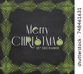 illustration of merry christmas. | Shutterstock .eps vector #748461631