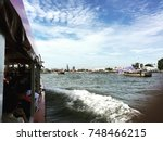 nice bangkok view on chao... | Shutterstock . vector #748466215