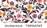 floral seamless pattern.... | Shutterstock .eps vector #748466569