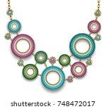 ethnic  original  asymmetric... | Shutterstock .eps vector #748472017
