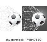 score a goal  soccer ball | Shutterstock .eps vector #74847580
