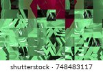 bright abstract mosaic... | Shutterstock . vector #748483117