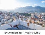 africa  morocco  tanger  hills... | Shutterstock . vector #748494259