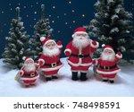 christmas santa claus | Shutterstock . vector #748498591