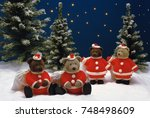 christmas santa claus | Shutterstock . vector #748498609