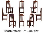 Brown Wooden Chair Isolated O...