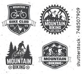 set of mountain bikings clubs.... | Shutterstock .eps vector #748507909
