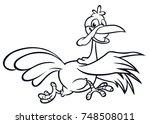 screaming running cartoon...   Shutterstock .eps vector #748508011
