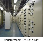 electrical substation room in... | Shutterstock . vector #748515439