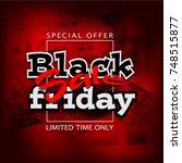 black friday sale background ... | Shutterstock . vector #748515877