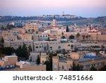Panoramic View Of Jerusalem At...
