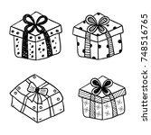 gift boxes   Shutterstock .eps vector #748516765