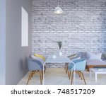 concept interior  mock up... | Shutterstock . vector #748517209