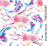 Asian Seamless Pattern With...