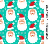 cute childish winter seamless... | Shutterstock .eps vector #748521985