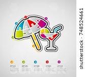 five options summer timeline... | Shutterstock .eps vector #748524661