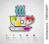 five options tea timeline... | Shutterstock .eps vector #748524697