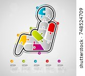 five options car safety... | Shutterstock .eps vector #748524709