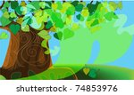 old strong wood  covered with... | Shutterstock .eps vector #74853976