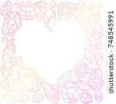 hand painted gradient gem... | Shutterstock .eps vector #748545991