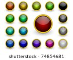 buttons set | Shutterstock . vector #74854681