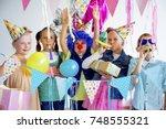 teens birthday party | Shutterstock . vector #748555321