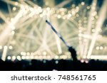 defocused entertainment concert ... | Shutterstock . vector #748561765