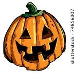 cartoon of smiling halloween...   Shutterstock .eps vector #74856307