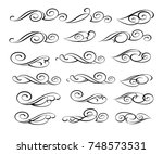 set design elements. vector... | Shutterstock .eps vector #748573531