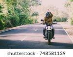 filter and grain photo   man... | Shutterstock . vector #748581139