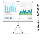 financial charts and graphs on... | Shutterstock .eps vector #748582579