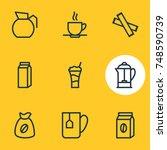 vector illustration of 9 drink... | Shutterstock .eps vector #748590739