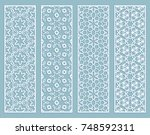 decorative geometric line... | Shutterstock .eps vector #748592311