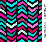 seamless textile doodle pattern ... | Shutterstock .eps vector #748598959