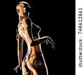3d illustration. stylish cyborg ...   Shutterstock . vector #748612861
