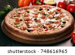 pizza  | Shutterstock . vector #748616965