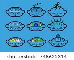 a collection of head icons... | Shutterstock .eps vector #748625314