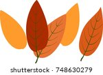 background with fall leaves | Shutterstock .eps vector #748630279
