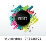 design abstract circle banner... | Shutterstock .eps vector #748636921