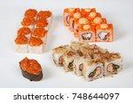 sushi rolls japanese food...