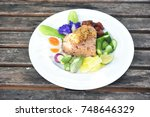 spicy shrimp paste fried rice... | Shutterstock . vector #748646329
