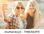 summer outdoor portrait of... | Shutterstock . vector #748646395