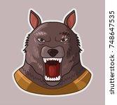 werewolf   Shutterstock .eps vector #748647535