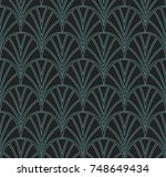 elegant stripe vector floral... | Shutterstock .eps vector #748649434