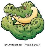 vector illustration of cartoon... | Shutterstock .eps vector #748651414